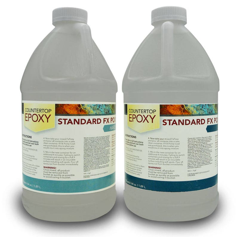FX Poxy - Clear Epoxy Resin - 20 sq ft - Coat over Art, Countertops, and  more!
