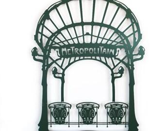 Items similar to Metro Sign with Twin Pigeons - Paris - photo, art ...