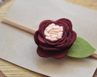 Sour Cherry woolfelt flower headband