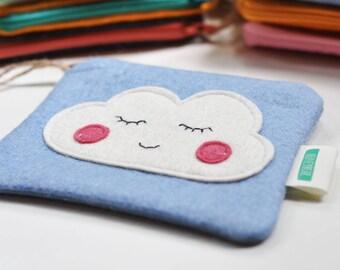 Little cloud purse - woolfelt