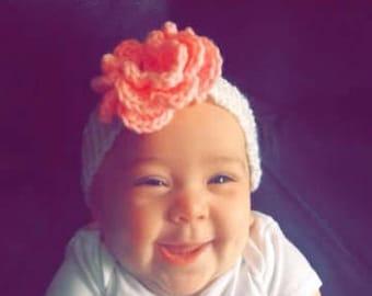 Custom crocheted baby headbands