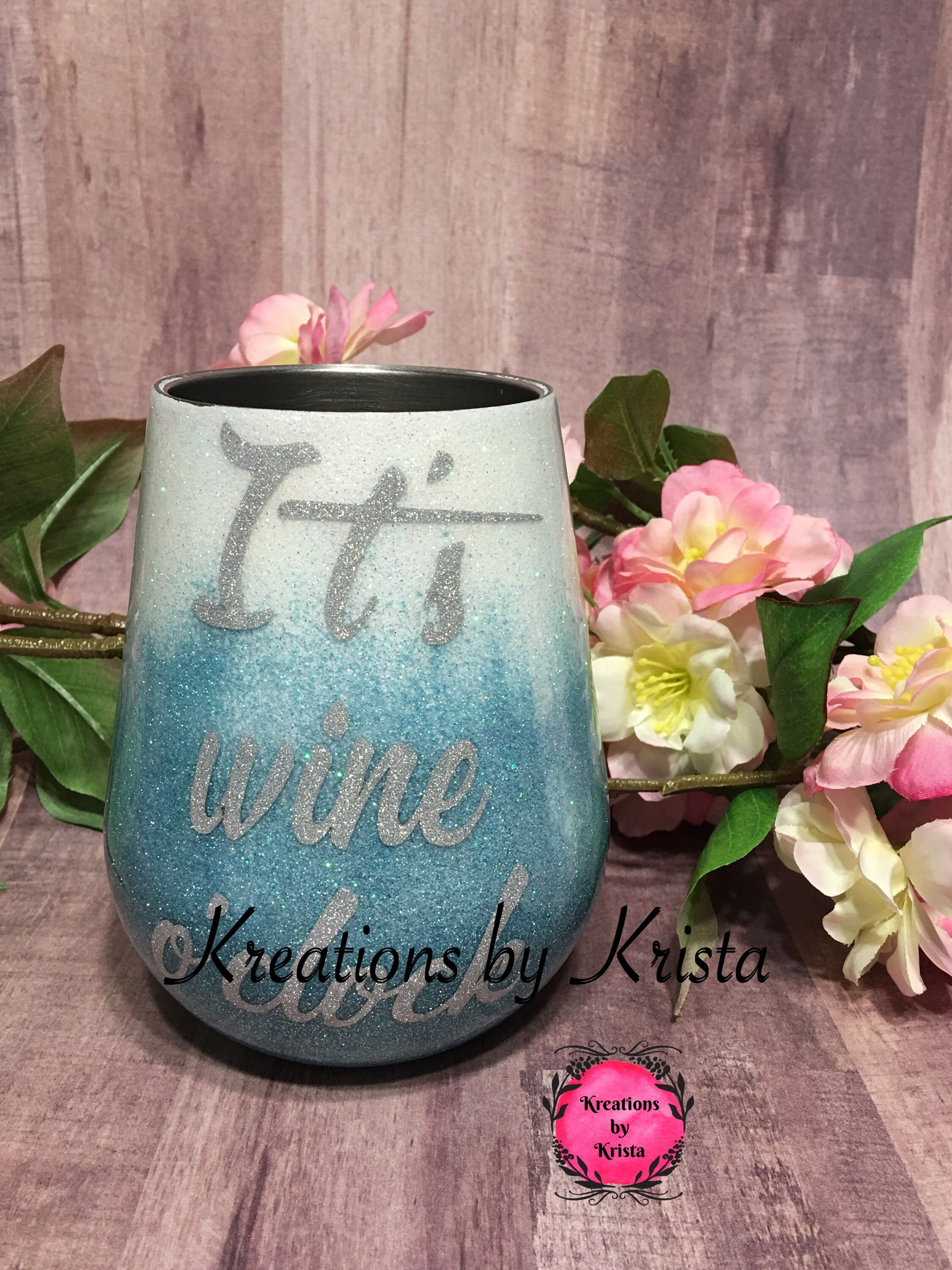 14oz insulated wine tumbler made to order