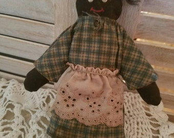 Primitive Handpainted and Grunged Doll