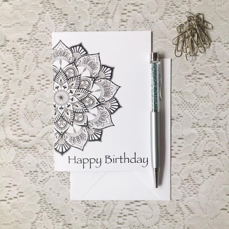 Happy Birthday Cards Greeting Zentangle