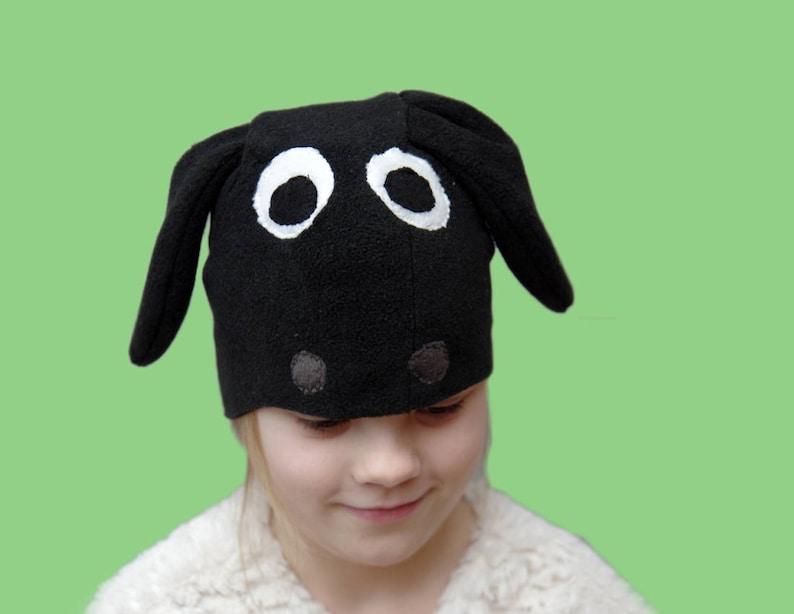 85e7c7bdbb6 Sheep Halloween costume for kids black lamb costume hat be