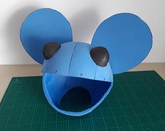 Deadmau5 Inspired Head Template, EVA Foam Template, Mouse Head Costume - Make Your Own