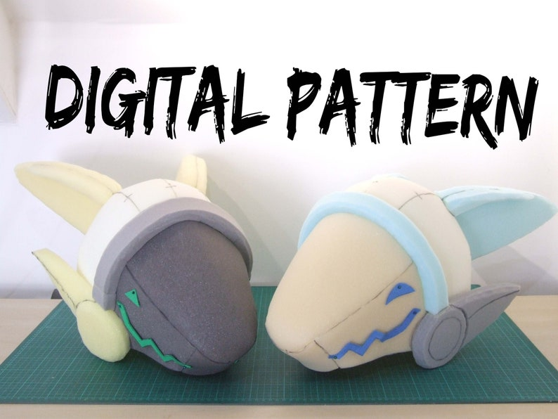 Protogen Fursuit Head base Template Digital Pattern  PDF make image 1