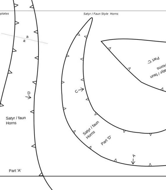 Satyr Faun Devil Horns Foam Template Digital Pdf Make Your Own
