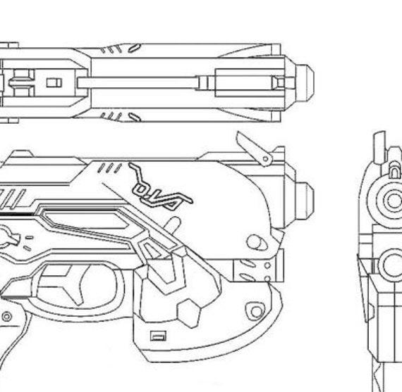 New Destiny Foam Pistol Cosplay Gun Costume Accessories 1:1 Size overwatch