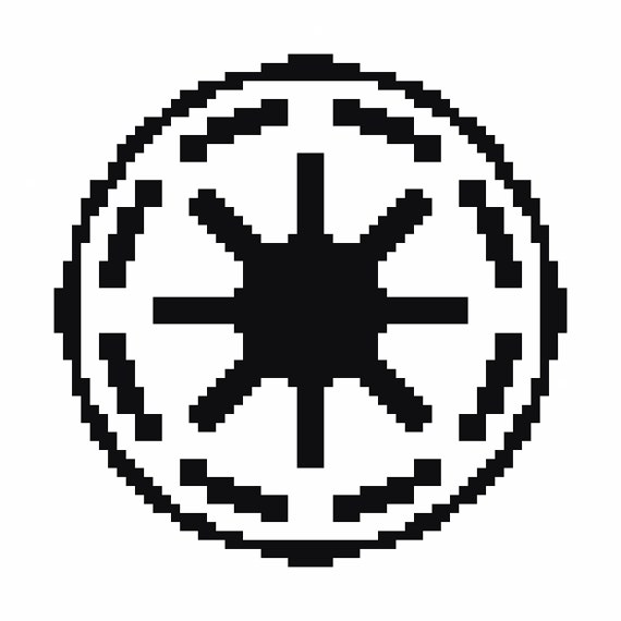 Galactic Republic Star Wars Cross Stitch Pattern Star Wars