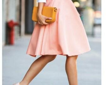 circle skirt | midi skirt | skater skirt | high waist skirt | a-line skirt | retro pink circle skirt