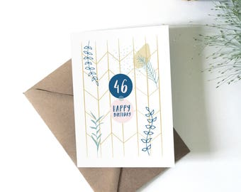 Personalised birthday card, happy birthday greeting card, party, birthday, personalized holiday card, happy birthday
