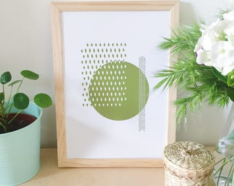 Poster, illustration, green, home decor, poster, graphic, Scandinavian, modern, poster design poster, gifts for women
