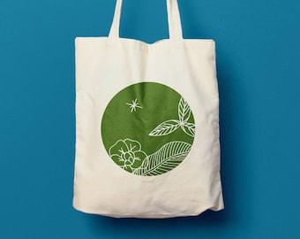 Cotton bag, canvas bag, women's bag, handbag, shopping bag, bag, silkscreen, gift for women