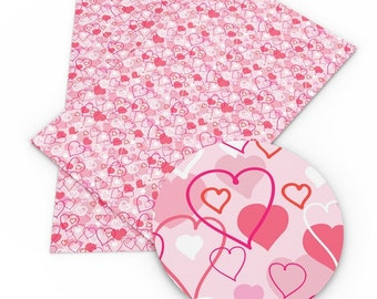 Valentine's Day Faux Leather Sheets,Valentine A4 Vinyl Fabric Sheet, Heart 8x11 Faux Leather, DIY Hair Bows, Earrings DIY