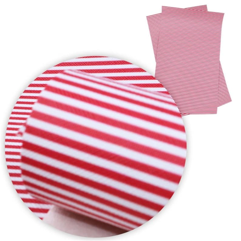 Red And White Striped Sheets A4 Vinyl Fabric Sheet 8x11 Faux Etsy