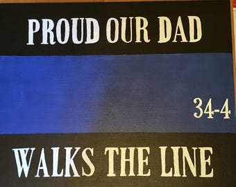 Customized Blue Line Canvas
