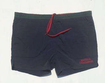 780eb93dad369 Vintage Nautica J-Class swim trunks size M