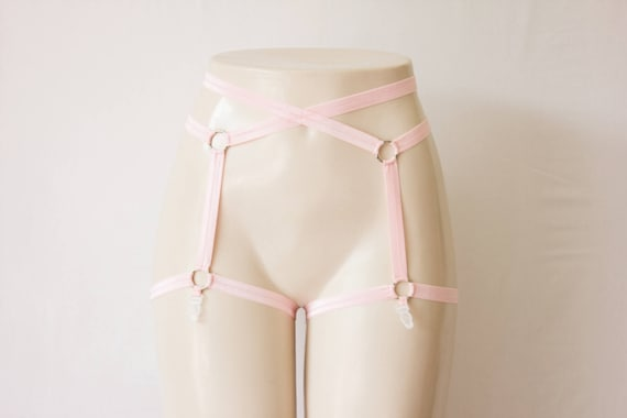 Light Pink Garter Belt  Pink Lingerie Body Cage Body  772570370