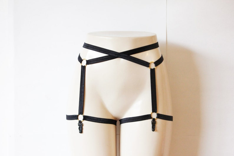48ca87804c1 Sexy Black Garter Belt  Body Cage Garters Body Harness Garter