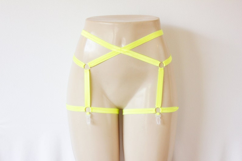 5bbd0e76f79 Yellow Garter Belt  Festival Fashion Glow Clothing Yellow