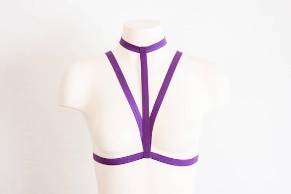 cb3c06afce5 Body Harness  Harness Bra Cage Bra Purple Lingerie Festival