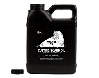 WALRUS OIL - Cutting Board Oil and Wood Butcher Block Oil, Food-Safe, 32oz