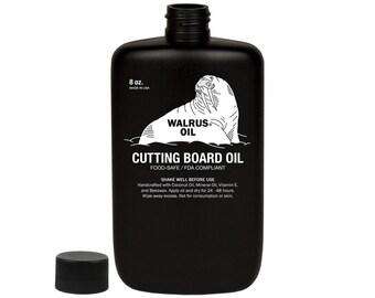 WALRUS OIL - Cutting Board Oil and Wood Butcher Block Oil, Food-Safe, 8oz