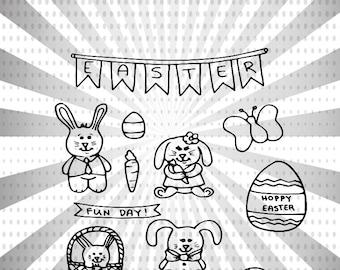 Hoppy Easter Digital Stamp Set