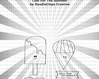 Cool For The Summer Digital Stamp Set