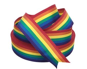 "Rainbow Grosgrain Ribbon 1 3/8"""