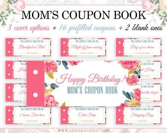 moms coupon book moms gift mothers birthday gift birthday gift ideas mothers day gift mothers day coupon book printable coupons