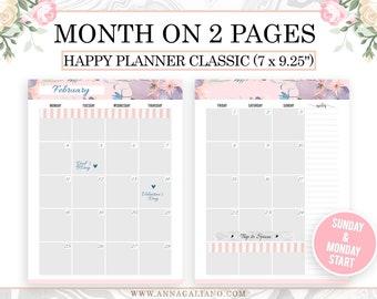 Monthly Desk Calendar Monthly Desk Pad Monthly Desk Planner Etsy