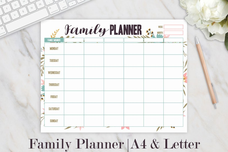 image about Printable Hourly Planner known as Loved ones Organizer, Hourly Planner, Weekly Planner, Relatives Planner, Homeschool, Weekly Routine, Weekly Organizer, Weekly Printable, A4 Letter