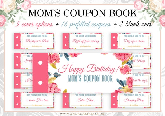 mom 39 s coupon book mom 39 s gift mother 39 s birthday etsy. Black Bedroom Furniture Sets. Home Design Ideas