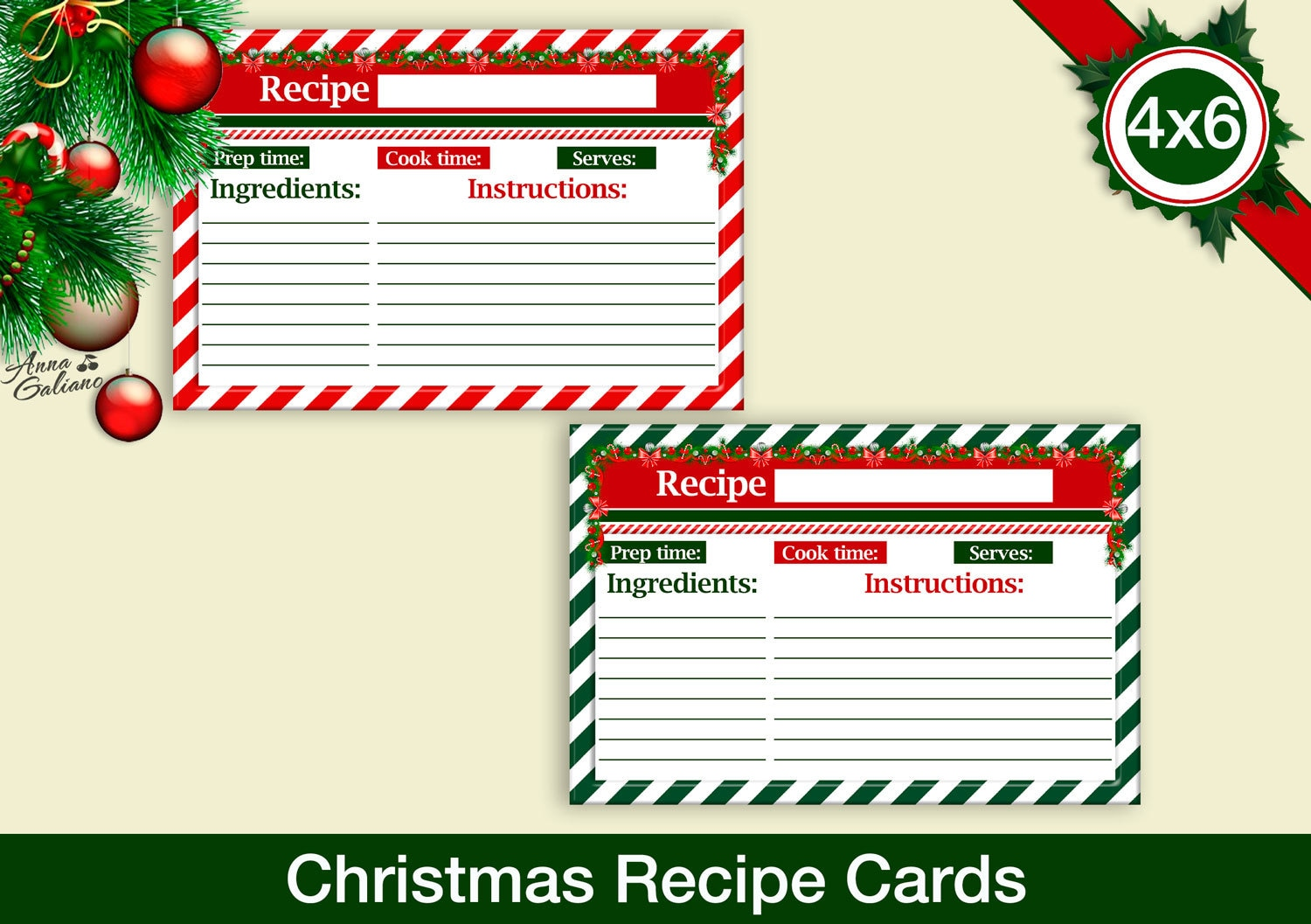 It is a picture of Clean Free Printable Recipe Cards 4x6