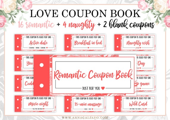love coupons for him template - love coupon book boyfriend gift love coupons for him etsy