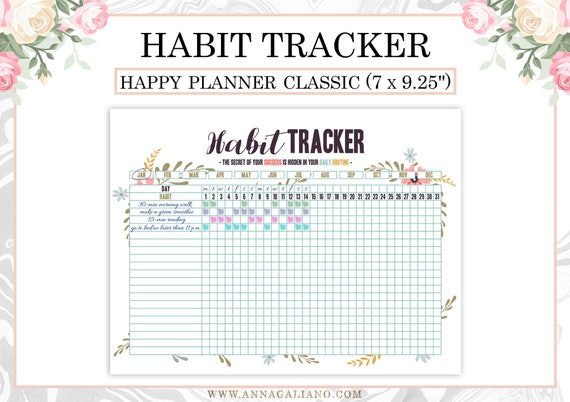 photograph about Daily Goals Checklist referred to as Satisfied Planner Behavior Tracker Printable, Everyday Behaviors Planner, Regular monthly Behavior, Bullet Magazine, Day-to-day Plan Listing, Plans, Efficiency