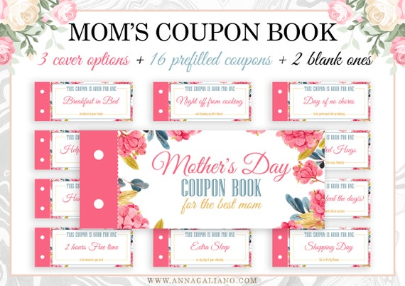 Mother's Day Gift Coupon Book for Mom Mom coupons