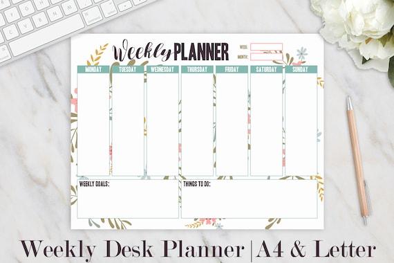 Image result for desk weekly planner