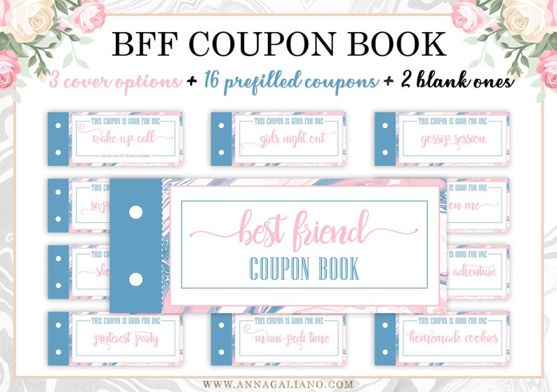 image regarding Printable Coupon Book referred to as Excellent Buddies Present, Printable Discount codes, Coupon Guide, Birthday Present Designs, Friendship, Solitary Female Pal bff Show, Platonic Close friend Reward Do it yourself