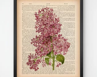 Lilac print, Digital print, Flower print, Instant download printable art, Antique botanical print, Vintage art, Printable botanical art, JPG