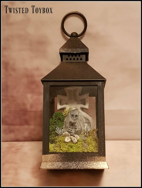 Hanging Lantern With Miniature Skeleton Corpse Bride Inside Etsy