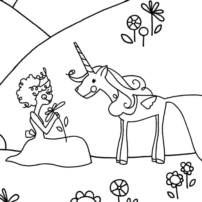 Set Unicorn Coloring Pages Printables Kids Unicorn Coloring Princess Coloring Rainbow Color Coloring Pages Craft For Girls Girl Color