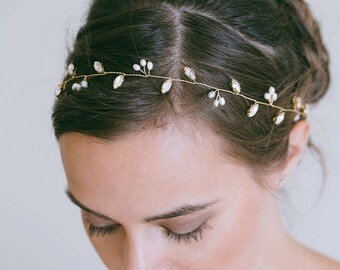 Bridal hair vine, Crystal Hair Vine, Hair twig, Leaf Hair Vine, Gold or Silver hair vine, Bridal Hair Accessories, Rhinestone headband