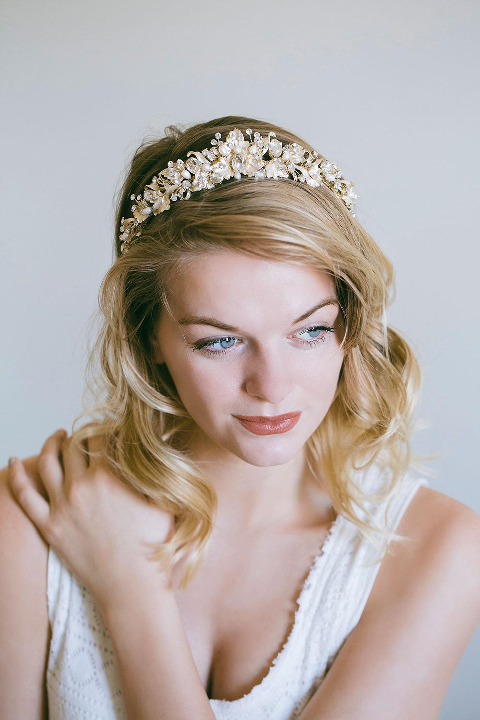 Braut Tiara in Gold
