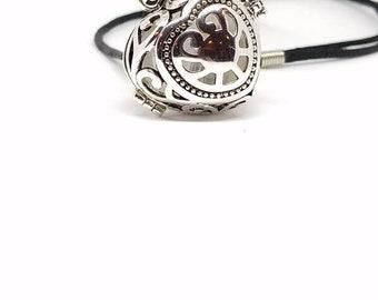 Silver Celtic heart charmed locket