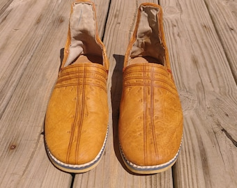 Vintage leather espadrilles size 7.5 Mens