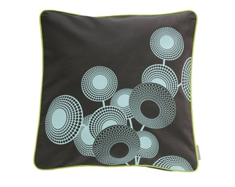 Pillow cover Hope, dark grey/mint, 50 x 50 cm (without filling)