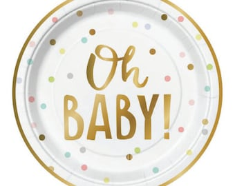 High Quality Oh Baby Plates: Baby Shower ...